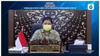 Menteri Koordinator Bidang Perekonomian Airlangga Hartarto dalam Bincang Editor Liputan6.com: Vaksin dan Donor Plasma Untuk Percepatan Penanganan Covid-19.