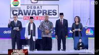 Penampilan para calon wakil presiden 2019 saat akan debat (dok.video.com)