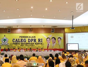 Persiapan Pemilu 2019, Ketum Golkar Bekali Calon Legislatif DPR RI
