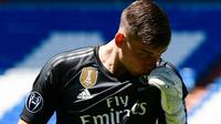 Kiper Real Madrid asal Ukraina, Andriy Lunin. (AFP/Javier Soriano)