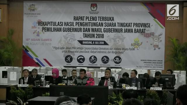 Ridwan Kamil dan Uu Ruzhanul Ulum ditetapkan KPUD Jawa Barat sebagai pemenang Pilgub Jawa Barat 2018. Ridwan-Uu berhasil mendapatkan 7 juta suara pemilih Jabar.