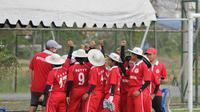 Tim Cricket putri Indonesia saat bertanding di kejuaraan Asia di Thailand (istimewa)