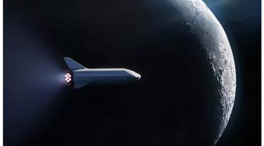 ilustrasi pesawat luar angkasa