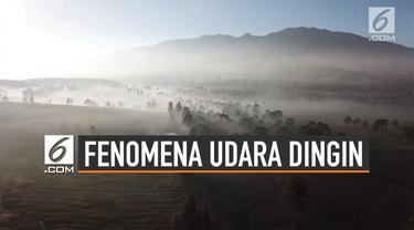 Fenomena Udara Dingin di Pulau Jawa dan Sekitarnya