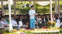 Emil saat menghadiri Peringatan Hari Santri Tingkat Provinsi Jabar di Lapangan Gasibu Kota Bandung, Selasa (22/10/19).
