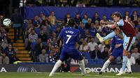 Duel Chelsea vs Burnley di Stamford Bridge dalam lanjutan Premier League, Selasa dini hari WIB (23/4/2019). (AFP/Adrian Dennis)