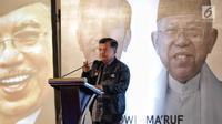Wakil Presiden Jusuf Kalla memberikan paparan dalam Rapat Konsolidasi Nasional Jenggala Center di Jakarta, Minggu (3/2). Rapat ini berlangsung pada pada 2-3 Februari 2019.  (Liputan6.com/Faizal Fanani)
