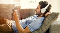 Ilustrasi nonton konser virtual (Shutterstock)