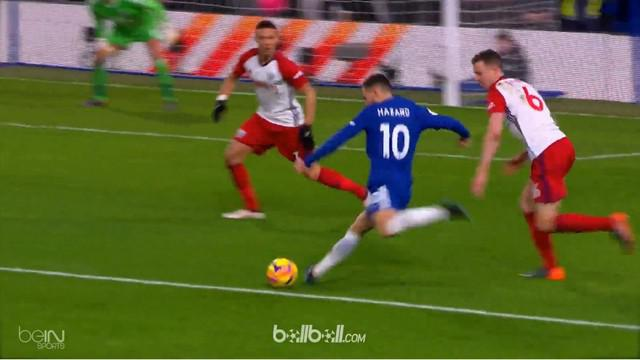 Eden Hazard menjadi bintang Chelsea saat menekuk West Brom. This video is presented by Ballball.