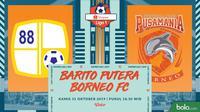 Shopee Liga 1 - Barito Putera Vs Borneo FC (Bola.com/Adreanus Titus)