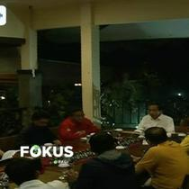 Joko Widodo gelar pertemuan dengan sembilan sekertaris jenderal dari PPP, PDIP, Nasdem, PKB, Golkar, PKPI, PSI, dan Perindo.