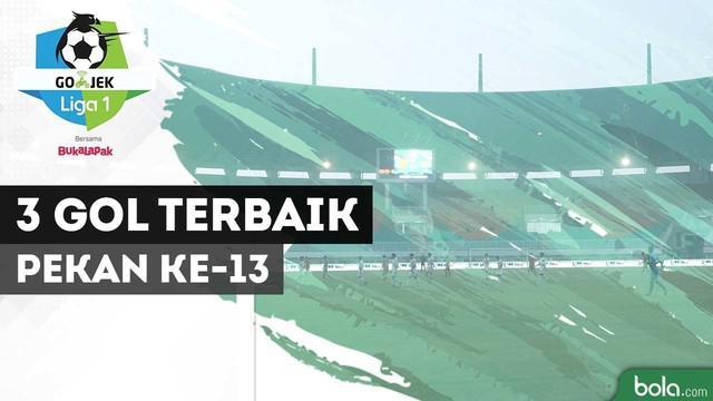Dari 22 gol yang tercipta di pekan ke-13 Gojek Liga 1 2018 bersama Bukalapak, terdapat tiga gol terbaik pekan ini.