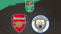 Carabao Cup - Arsenal Vs Manchester City (Bola.com/Adreanus Titus)