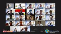 Peserta Diklat dan Uji Kompetensi bagi POM angkatan keempat secara online. Dok PPSDM Geominerba