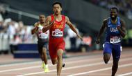 Xie Zhenye, sprinter Tiongkok yang batal tampil di Asian Games 2018 karena cedera. (Ian KINGTON / AFP)
