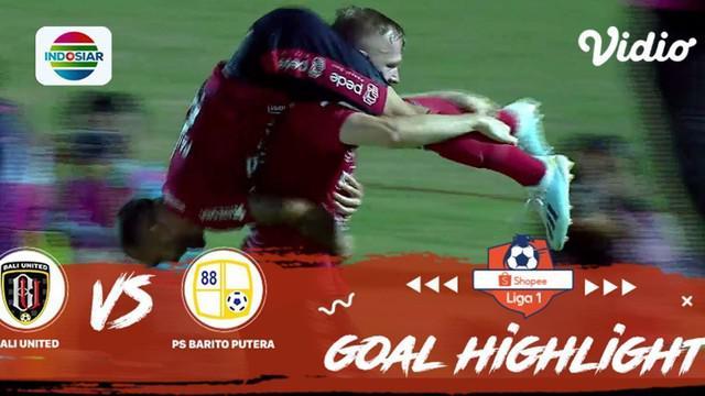 Berita Video Highlights Shopee Liga 1 2019, Bali United Vs Barito Putera 3-2
