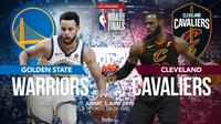 Jadwal final NBA, Golden State Warriors Vs Cleveland Cavaliers. (Bola.com/Dody Iryawan)