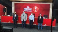 Acara peluncuran logo FIBA Asia Cup 2021 resmi diluncurkan di Stadion Gelora Bung Karno, Senayan, Selasa (13/4/2021). (Media FIBA Asia Cup 2021)
