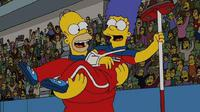 Ramalan The Simpsons tentang kemenangan tim curling Amerika Serikat di olimpiade (Tiwitter @TheSimpsons)