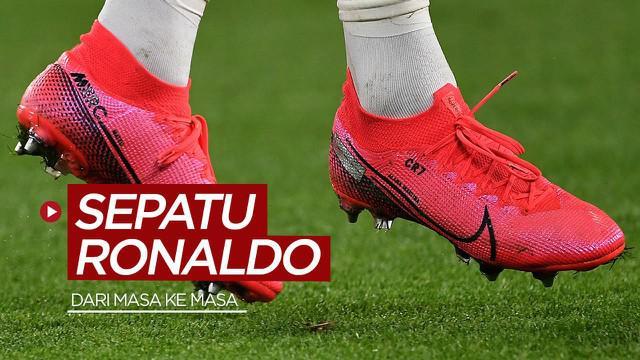 Berita video TikTok Bola.com kali ini membahas deretan beberapa sepatu bintang Juventus, Cristiano Ronaldo, dari masa ke masa.