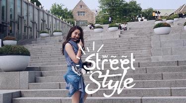 Street style Ranty Maria di Korea Selatan. (Instagram/rantymaria)