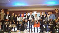Para peserta kompetisi presenter news EGTC 2018 asal Bandung. (Huyogo Simbolon)