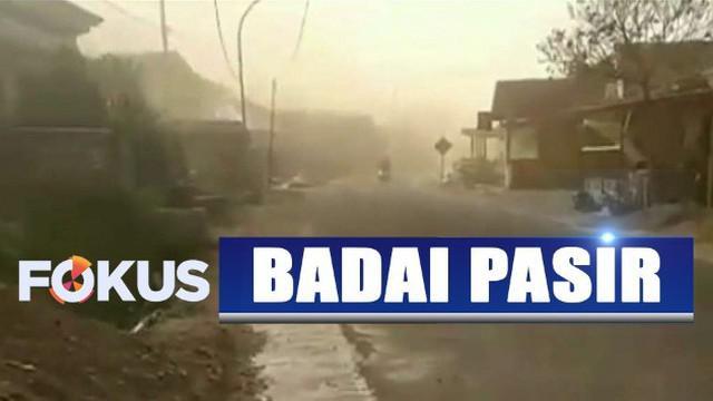 BPBD setempat mengimbau warga untuk mewaspadai kemungkinan datangnya badai pasur susulan.