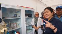 Menteri Kesehatan RI Nila F Moeloek meninjau dua pos kesehatan di dua rest area. (Biro Komunikasi dan Pelayanan Masyarakat, Kementerian Kesehatan RI)