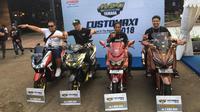 Empat terbaik di acara seminfinal CustoMaxi 2018 regional Jabodetabek digelar di Kawasan Sentral Kuliner Melimelo, Harapan Indah, Bekasi, Sabtu (17/11/2018).