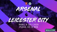 Premier League - Arsenal Vs Leicester City (Bola.com/Adreanus Titus)