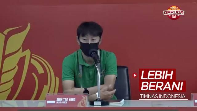 Berita video Pelatih Shin Tae-yong ingin para pemain Timnas Indonesia tampil lebih berani saat menghadapi Chinese Taipei pada leg II babak play-off Kualifikasi Piala Asia 2023.