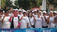 Wulan Guritno (ketiga dari kanan) beserta beberapa artis lainnya akan turut meramaikan Mekaki Marathon 2018 (istimewa)