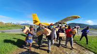 Bantuan Kemensos untuk korban banjr Paniai Papua (Foto: Kemensos)