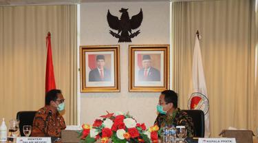 Kepala PPATK Dian Ediana Rae dan Menteri Dalam Negeri Tito Karnavian, Selasa (16/6/2020).