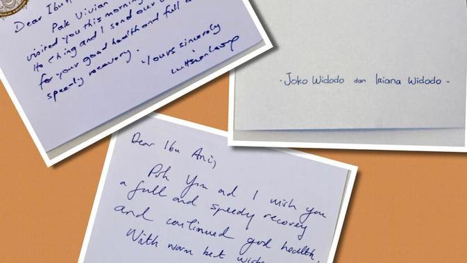 Kartu ucapan dari Jokowi untuk Ani Yudhoyono. (Instagram Aniyudhoyono)