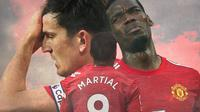 Manchester United - Harry Maguire, Anthony Martial, Paul Pogba (Bola.com/Adreanus Titus)