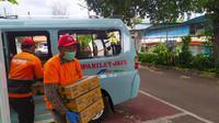 Para sopir angkot di wilayah Kampung Melayu, Jakarta.
