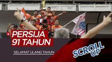 Berita video Scroll Up kali ini membahas Persija Jakarta yang berulang tahun ke-91 dam trio MSG Barcelona yang ganas di Liga Champions 2019-2020 saat menghadapi Borussia Dortmund.