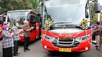 Pemerintah Provinsi Jawa Tengah menargetkan mengoperasikan tujuh koridor Trans Jateng di wilayahnya sampai pada 2023.