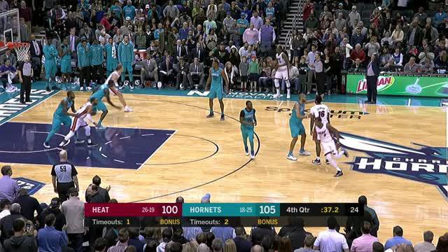Berita video game recap NBA 2017-2018 antara Miami Heat melawan Charlotte Hormets dengan skor 106-105.