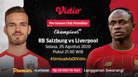 Pertandingan Pramusim Liverpool Vs RB Salzburg. (Sumber: Vidio)