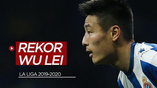 Berita video pemain Espanyol asal China, Wu Lei, mencetak rekor lagi di La Liga.