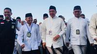 Menteri Agama Lukman Hakim Saifuddin salat magrib di Masjidil Haram. (www.kemenag.go.id)