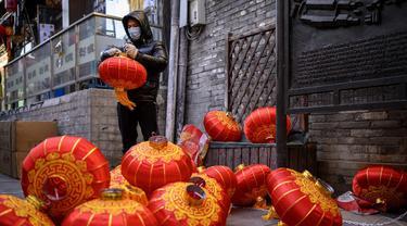 FOTO: Beijing Bersiap Menyambut Jelang Tahun Baru Imlek