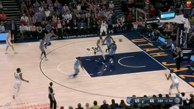 Berita video game recap NBA 2017-2018 antara Utah Jazz melawan Memphis Grizzlies dengan skor 107-97.