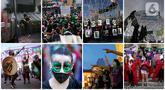 Foto kombinasi yang dibuat pada 29 September 2020 ini menunjukkan demonstrasi pada Hari Dekriminalisasi Aborsi di Amerika Latin dan Karibia. (AP Photo/Marco Ugarte, Dolores Ochoa, Victor R. Caivano, Silvia Izquierdo)