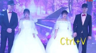 Unik, Pesta Pernikahan Kembar Identik yang Bikin Bingung Tamu