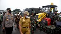 Gubernur Sumut, Edy Rahmayadi, usai Apel Kesiapsiagaan Bencana dan Gelar Peralatan Bencana di Apron Charlie Lapangan Udara Soewondo Medan, Senin (13/9/2021)