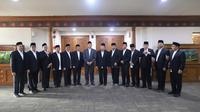 Delegasi Amirul Hajj 2019 yang dipimpin Menteri Agama (Menag) Lukman Hakim Saifuddin bertolak ke Tanah Suci. Dok Kemenag