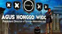 "Presiden Direktur PT Synnex Metrodata, Agus Honggo Widodo, dalam acara ""Build Your Going Empire"" di Jakarta, Rabu (27/3/2019). (Liputan6.com/ Andina Librianty)"